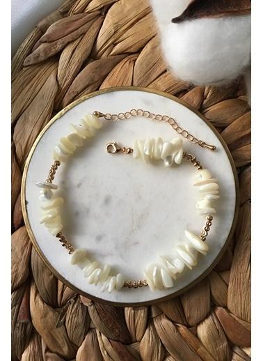 My Joyas Design Sıralı Deniz Kabuğu Halhal Altın